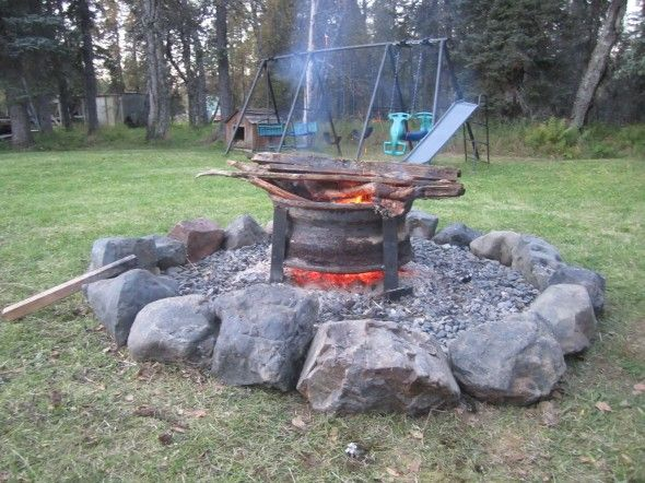 Upcycled Truck Wheel Fire Pit