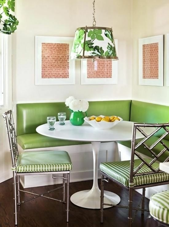 Breakfast Nook Furniture Wicker Breakfast Nooks Contemporary Meets Retro Green Upholstery Metallic Chairs Kitchen Nook Table Plans Small Kitchen Nook Table Breakfast Home Design Ideas Kitchen Nook Table Furniture Set Tables Sets Coffee Breakfast Corner
