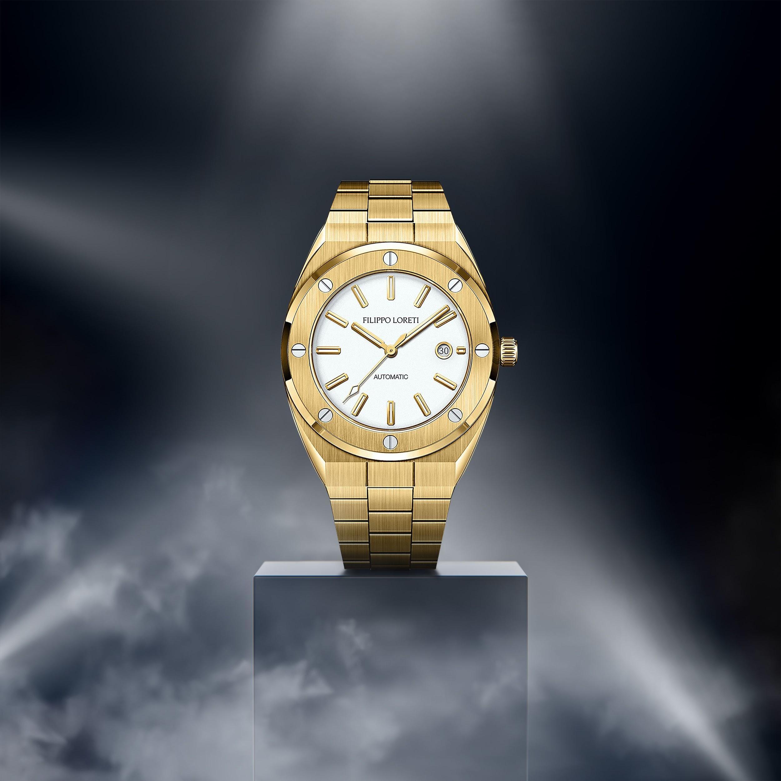 Florence Gold Automatic Watch from Filippo Loreti
