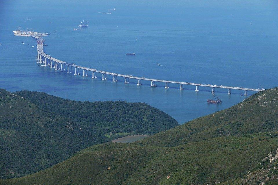 Hong Kong Bridge, Site, Macau, Macao, China, Island