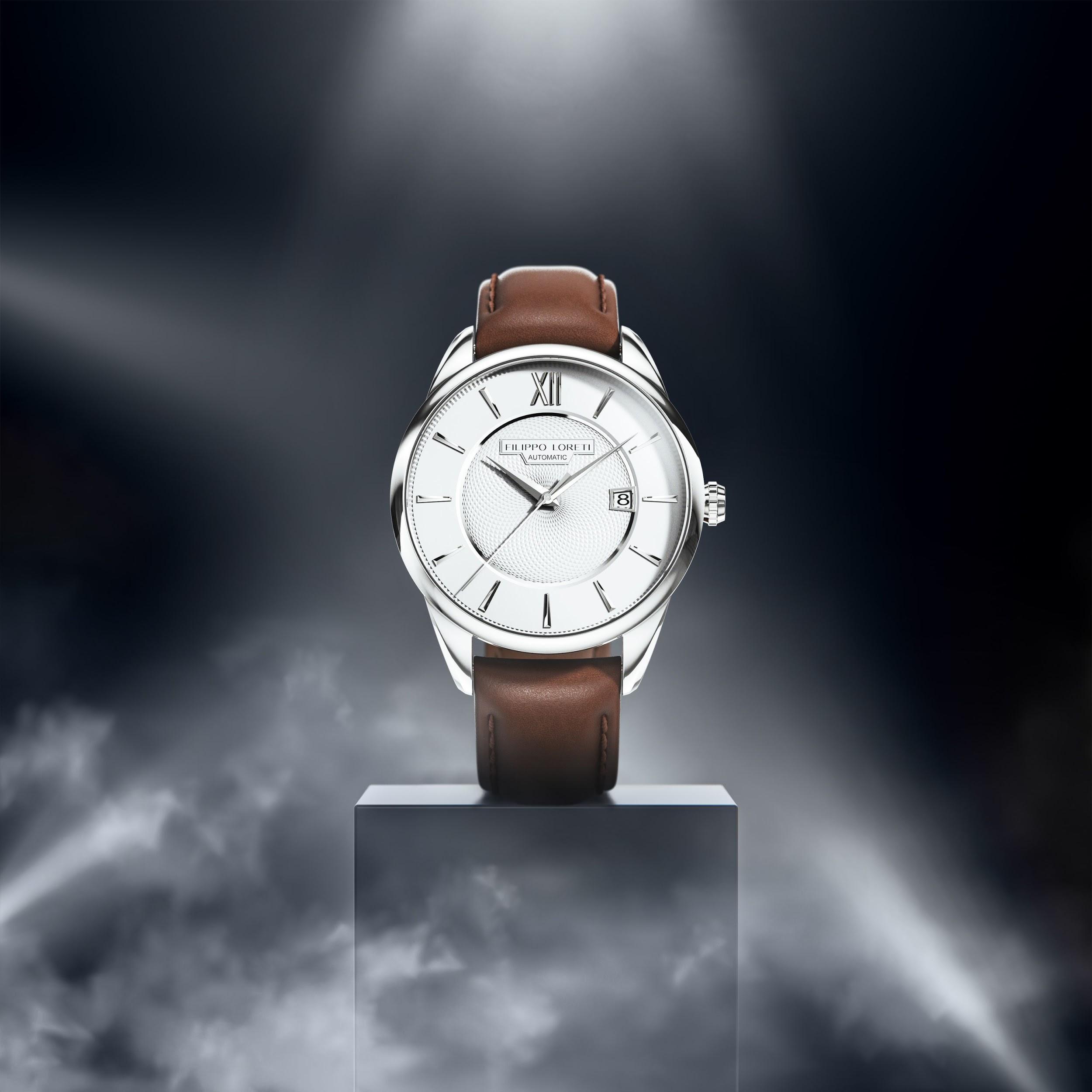 Rome Silver Automatic Watch from Filippo Loreti