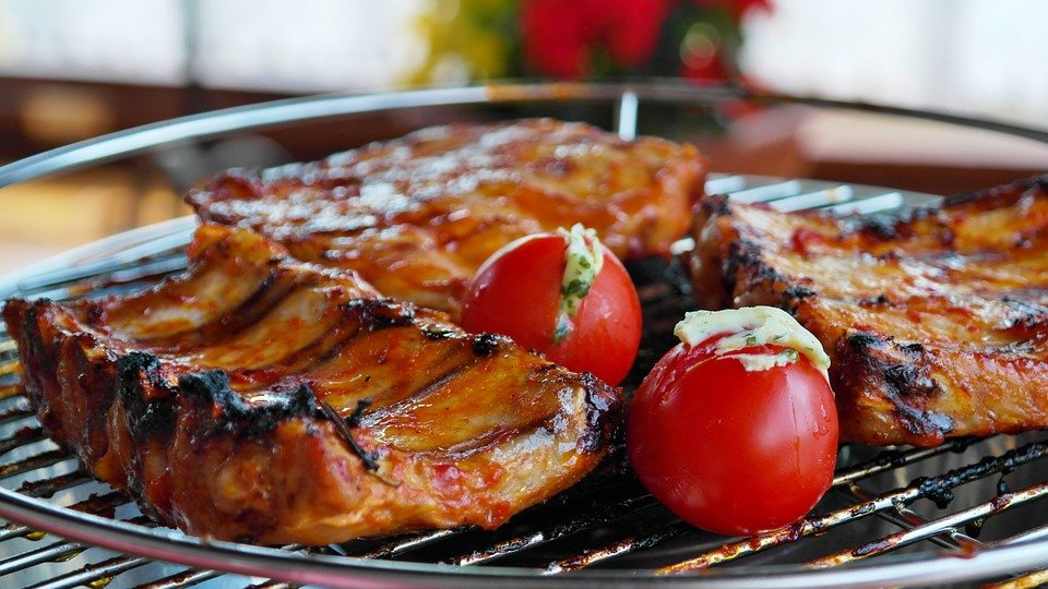Sparerips, Grill, Bbq, Barbecue, Peeling Ribs, Meat